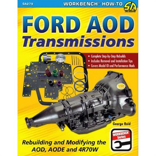 Car Tech SA279 How-To Rebuild Trans Book, Ford AOD, AODE, 4R70W