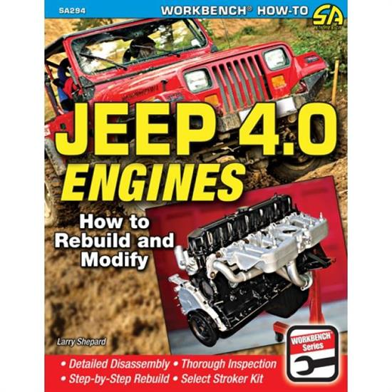 Car Tech SA294 How-To Rebuild/Modify Engine Book, Jeep 4L Engines
