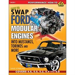 Car Tech SA381 How-To Engine Swap Book, Modular to Mustang/Torino