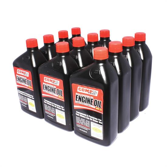 COMP Cams 1595-12 Semi-Synthetic Motor Oil, 15W50, 12 Quart Case