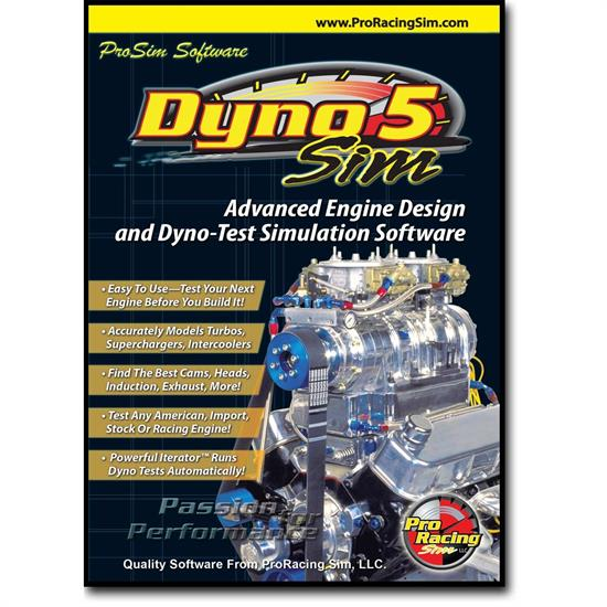 COMP Cams 181501 DynoSim5 ProRacing Engine Simulation Software