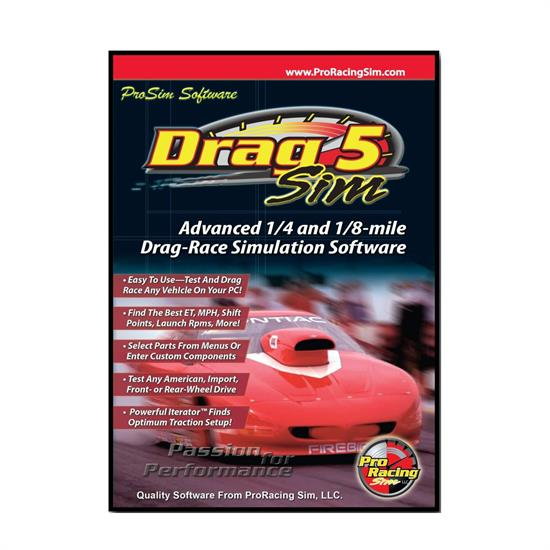COMP Cams 181601 DragSim5 ProRacing Drag Race Simulation Software, PC