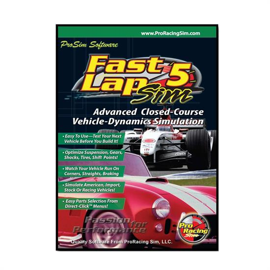 COMP Cams 181701 FastLapSim5 Road Racing Software CD-ROM, Windows/PC