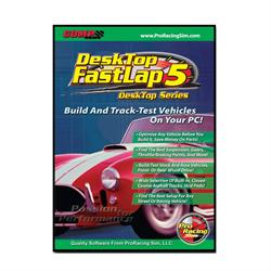 COMP Cams 186301 DeskTop FastLapSim5 Road Racing Software, CD-ROM