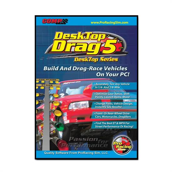 COMP Cams 186401 DeskTop Drag5 ProRacing Drag Race Simulation Software