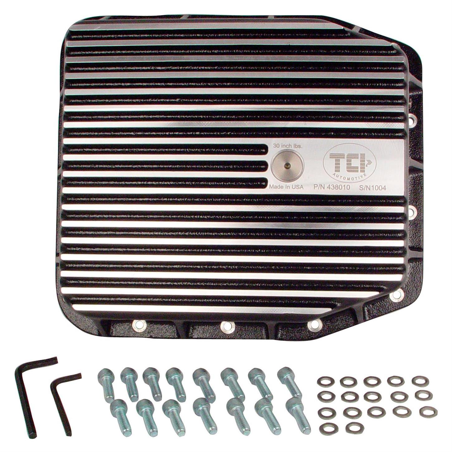 Tci 438010 Ford Aode 4r70w Maxcool Pan 1 2 Extra Quarts Aod Transmission Cooler Lines