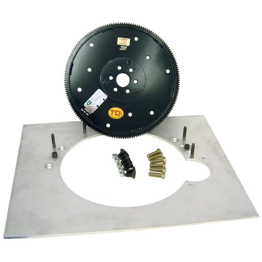 B/&M 30497 Transmission Adapter Plate-SBC//BBC Engine to BOP TH350//TH400//TH700R...