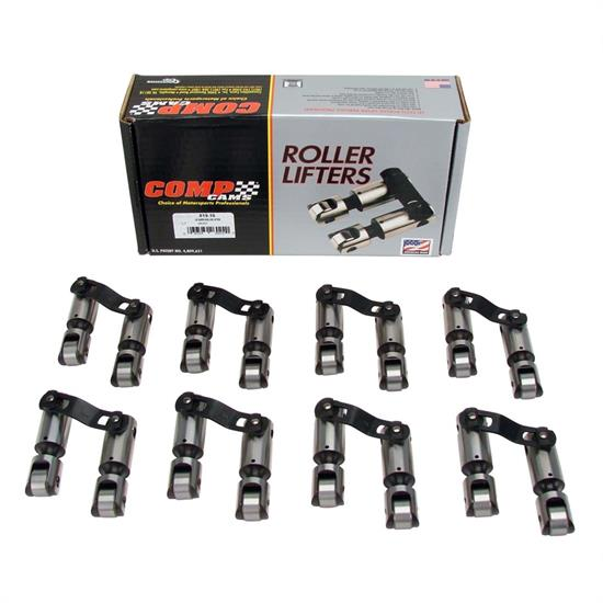 COMP Cams 819-16 Endure-X Lifters, Solid roller, Chevy, Set