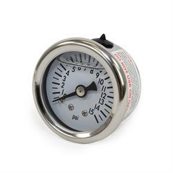 Liquid-Filled Fuel Pressure Gauge, 0-15 PSI