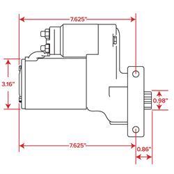 Sdway Motors High Torque Starter, 3.0 HP, BBC/SBC on