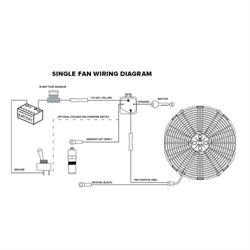 electric fan relay wiring diagram electric fan relay wiring kit  pro series  electric fan relay wiring kit  pro series