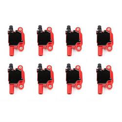 Top Street Performance 81015-8 2003-13 GM LS Ignition Coil Set, Red