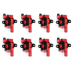 Top Street Performance 81016-8 1999-07 GM LS Ignition Coil Set, Red