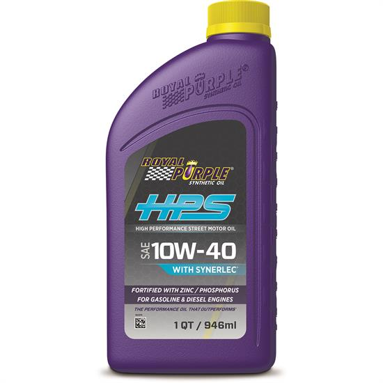Royal Purple HPS 10W40 High Performance Engine Oil, 1 Quart