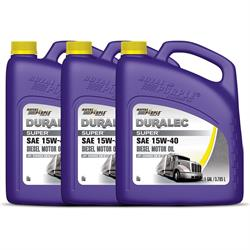 Royal Purple Duralec Super 15W40 Oil, API Service CK-4, 3 Gallons