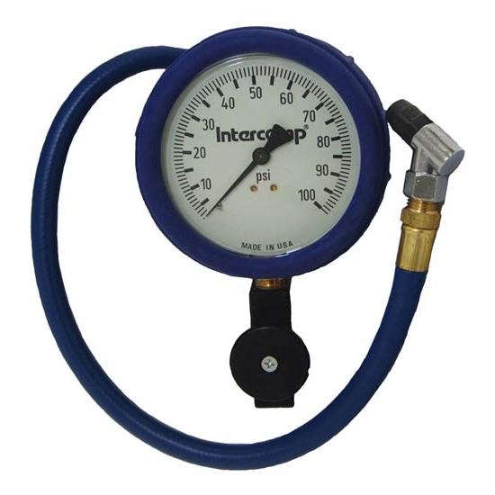 Intercomp 360088 4 Inch - 100 PSI Fill, Bleed, and Read Air Pressure Gauge