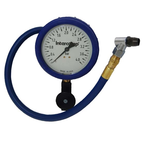 Intercomp 360090 4 Inch - 0-4 Bar Fill, Bleed, and Read Air Pressure Gauge