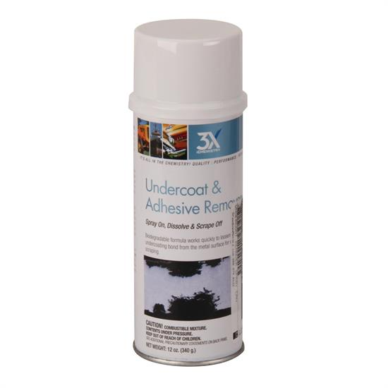 3X Chemistry Undercoat and Adhesive Remover, Aerosol 12oz. Spray Can