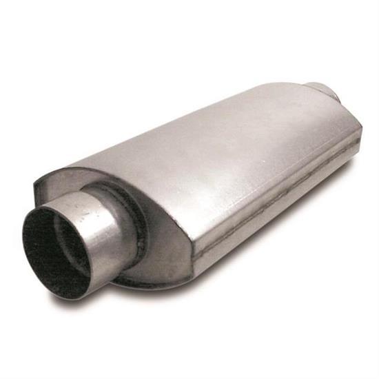 Dynatech® 776-14302 Oval Split Flow Mufflers, 3 Inch
