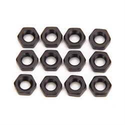 Black Aluminum Jam Nuts, 5/16-24 Thread, 12 Pack