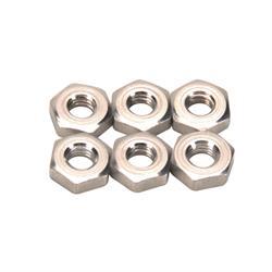 Aluminum Jam Nuts, 10-32 RH, Pack/6