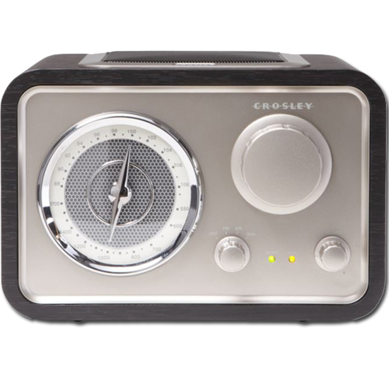 Crosley CR3003A-BK Solo AM/FM Retro Radio