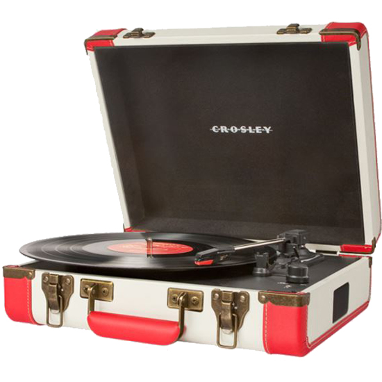 Crosley CR6019A-RE Executive Port USB Turntable, Red