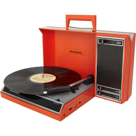Crosley Spinnerette Turntable, Red, USB Enabled