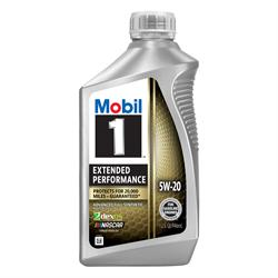 Mobil 1 Extended Performance Full Syn Oil 5W-20, 1 Qt, Case of 6