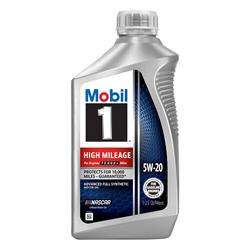 Mobil 1 High Mileage Full Synthetic Motor Oil 5W-20, 1 Qt, Case/6