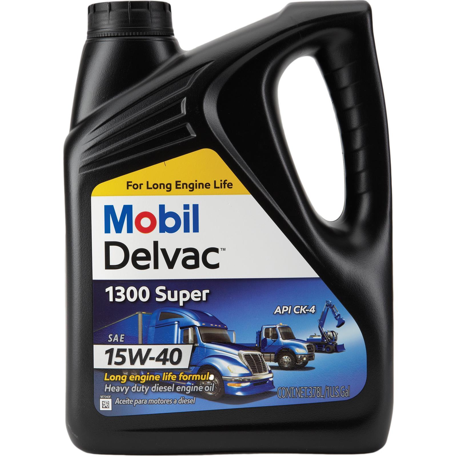 15w40 Diesel Oil >> Mobil 1 1224921 Delvac 1300 Diesel Engine Oil 15w 40 1 Gallon