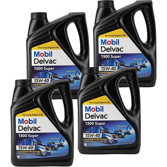 Mobil 1 122492 Delvac 1300 Diesel Engine Oil, 15W-40, 4 Gallons