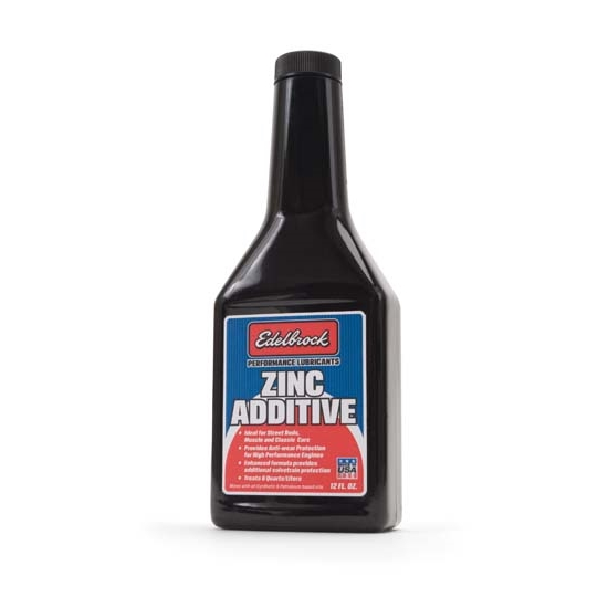 Edelbrock 1074 High Performance Zinc Engine Oil Treatment, 12 ounces