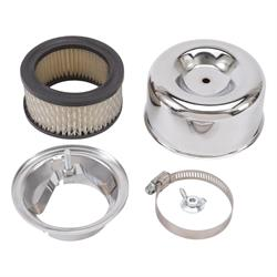 Edelbrock 1202 94 Chrome Air Cleaner Assembly, 3.125 Inch