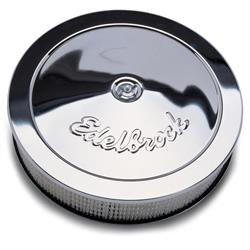 Edelbrock 1207 Pro-Flo Chrome Air Cleaner Assembly, Round, 3 Inch
