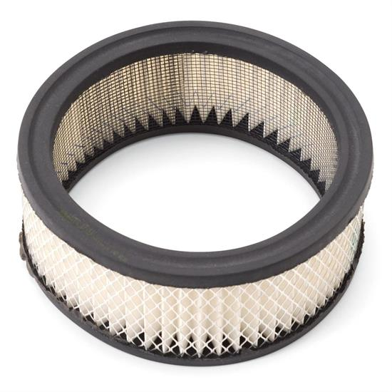 Edelbrock 1219 Air Cleaner Element Air Filter, Round, 2in. X 6in.