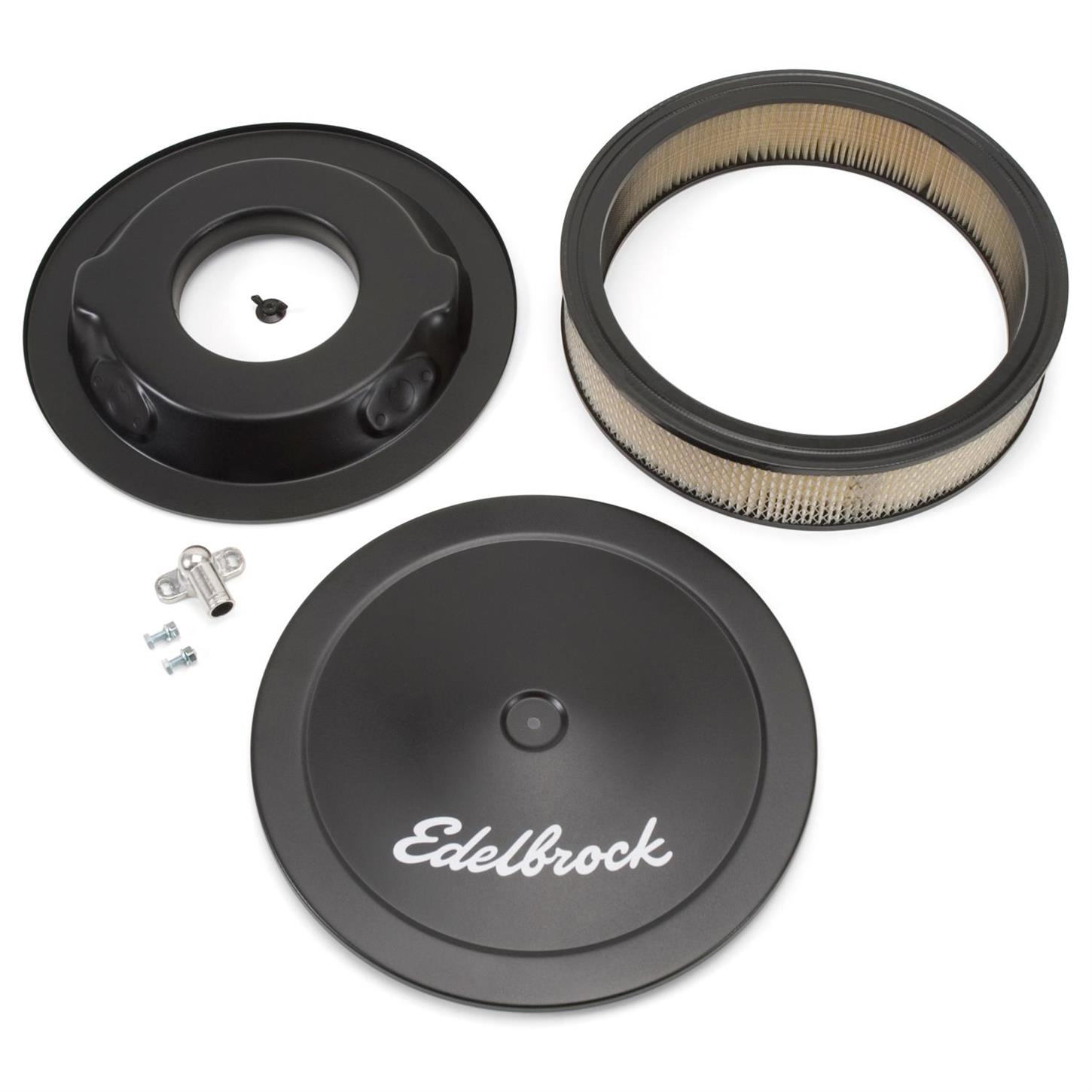 Edelbrock 1207 Pro-Flo Series 14 in Round Air Cleaner Assembly