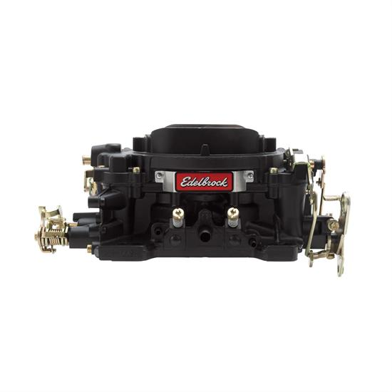 Edelbrock 14053 Performer 600 CFM Man. Carb/Air/Fuel Kit, BLK FIN