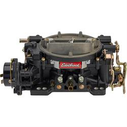 Edelbrock 14063 Performer 600 CFM Elec. Carb/Air/Fuel Kit,BLK/CHR