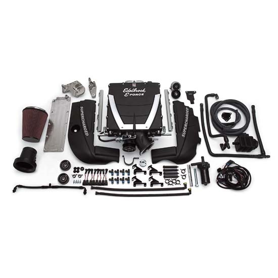 Edelbrock 15400 E-Force Street Legal Kit Supercharger System,SB Chevy