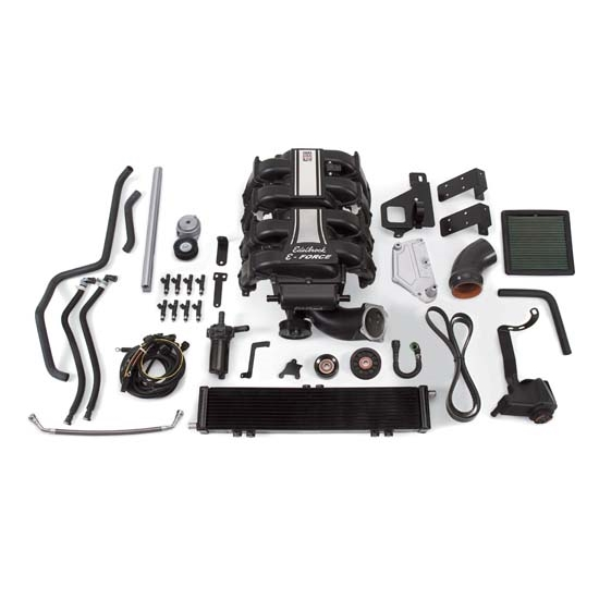 Edelbrock 15840 E-Force Supercharger Street Legal Kit, Ford 5.0L