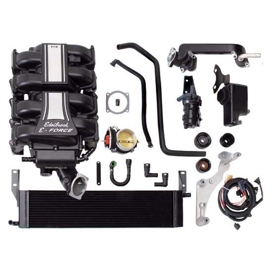 Ford Mustang Edelbrock Supercharger: Edelbrock 1585 E-Force Street Legal Kit Supercharger System