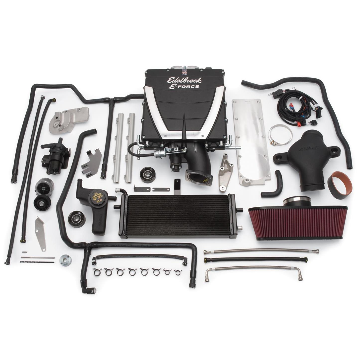 Edelbrock 1592 E-Force Chevy Competition Supercharger System Kit, 6 2L