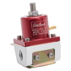 Edelbrock 174041 Fuel Pressure Regulator, Red Anodized