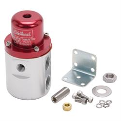 Edelbrock 174121 Fuel Pressure Regulator, Red Anodized