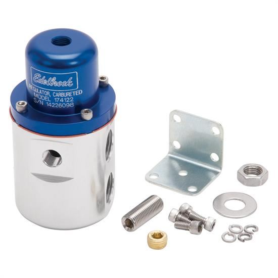 Edelbrock 174122 Fuel Pressure Regulator, Blue Anodized