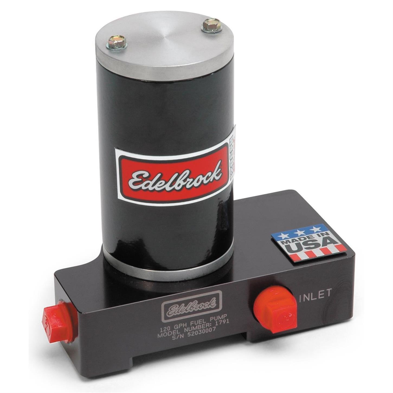 Edelbrock Electric Fuel Pump 1791; Quiet-Flow 120 gph 6.5 psi