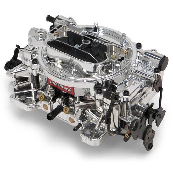 Edelbrock 18044 Endurashine Dual Quad 500 CFM 4 Barrel Carb-Man  Choke