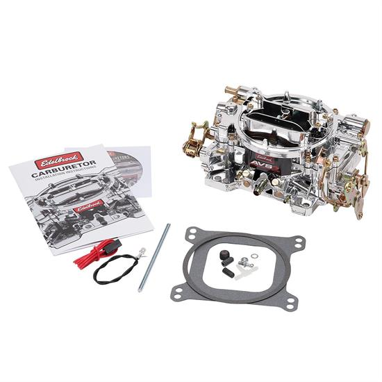 Edelbrock 19054 Endurashine AVS2 Series, 650 cfm, Manual Choke
