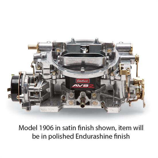 Edelbrock 19064 Endurashine AVS2 Series, 650 cfm, Electric Choke